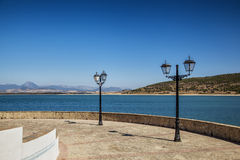 Embalse. View of the Bornos reservoir, Spain Royalty Free Stock Image