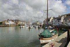 Embankements no porto do canal, Weymouth Fotografia de Stock