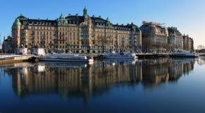 Embankmebt à Stockholm Photographie stock libre de droits