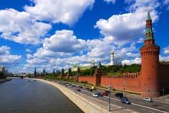 Embankmen and tKremlin in Moscow. Russia Stock Image