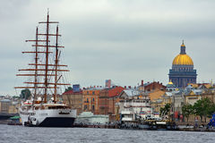 Embankment. View of the English Embankment in St. Petersburg (Russia Royalty Free Stock Images