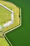 Embankment. Top view of swamp embankment Stock Photos