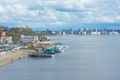 Embankment of the Amur River Stock Photos