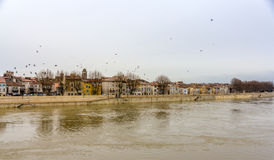 Embankment of Arles - France Stock Images