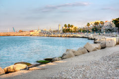 Embankment of Bari Italy hdr Royalty Free Stock Images