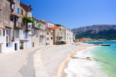 Embankment in Baska Royalty Free Stock Photography