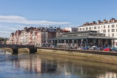 Embankment of Bayonne, France Stock Photography