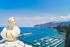 Sorrento, southern Italy. Embankment and beach of Sorrento at summer, southern Italy Stock Photography