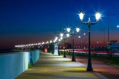 Embankment on the Black Sea coast, Sochi, Russia. royalty free stock images