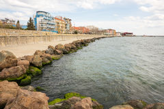 Embankment in the Bulgarian city of Pomorie Royalty Free Stock Photos