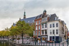 Embankment of the canal, Leiden, Netherlands Stock Photo