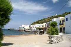 Embankment of the capital of the island of Nisyros - Mandraki Stock Photo