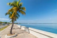 Embankment of Carribean sea in Cienfuegos, Cuba Stock Photos