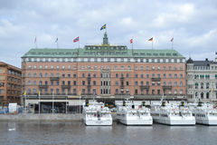 Embankment in cental part of Stockholm Royalty Free Stock Photos
