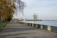 Embankment of the city of Dnepr stock photography