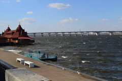 Embankment city Dnepropetrovsk Royalty Free Stock Image