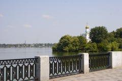Embankment of city of Dnepropetrovsk. Embankment of the city of Dnepropetrovsk in the summer Royalty Free Stock Photos