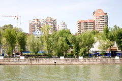 Embankment in the city of Rostov-on-Don Stock Images
