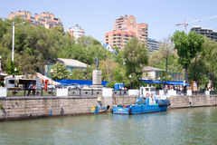 Embankment in the city of Rostov-on-Don Royalty Free Stock Images