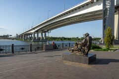 On the embankment of the city of Rostov-on-Don