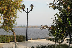 Embankment in the city of Samara, Russian Federation. On the coast of Volga River in Russia, Samara city stock photo