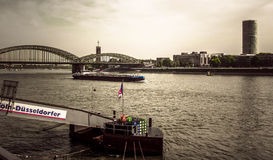 Embankment in Cologne Royalty Free Stock Photography