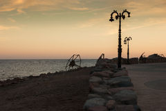 Embankment in Dahab in the evening. Stock Image