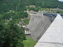 Embankment dam in Thuringia Stock Photos