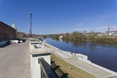 Embankment of the Dnieper in the center of Smolensk, Russia. Stock Photography