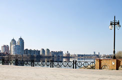 Embankment of the Dnieper Stock Photography