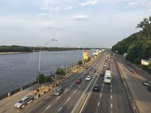 The Embankment Of The Dnieper. In the Kyiv Royalty Free Stock Photography