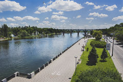 Embankment of the Dnieper River Royalty Free Stock Image