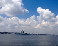 Embankment of Dnipro Royalty Free Stock Photo