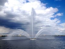 Embankment of Dnipro Royalty Free Stock Images