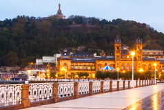 Embankment at Donostia in early morning. Basque Country, Spain royalty free stock images
