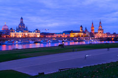 Embankment of Dresden, Germany Royalty Free Stock Photography