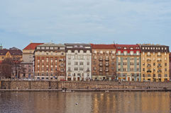 Embankment in Dresden. Home on Embankment in Dresden, Germany Royalty Free Stock Photography