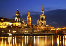 Embankment of the Elbe in Dresden. Germany Royalty Free Stock Image
