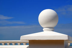 Embankment element - a white sphere Stock Images