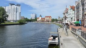 Embankment of the Fishing Village. Kaliningrad Stock Photography