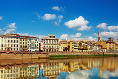 Embankment in Florence Stock Photography