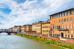 Embankment in Florence Royalty Free Stock Photos