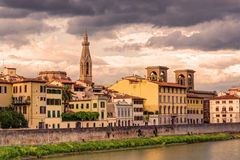 Embankment in Florence Royalty Free Stock Image