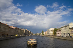 Embankment of Fontanka Royalty Free Stock Photos