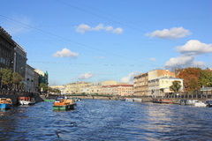 Embankment of Fontanka Stock Photo