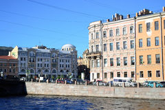 Embankment of Fontanka canal. Stock Photo