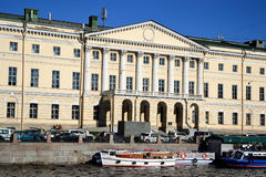 Embankment of Fontanka canal. Royalty Free Stock Photos