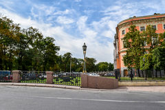 The embankment of the Fontanka river in St. Petersburg Stock Images