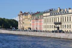 Embankment of Fontanka river Royalty Free Stock Images