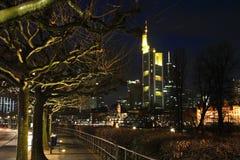 Embankment in Frankfurt am Main. Germany Royalty Free Stock Photography